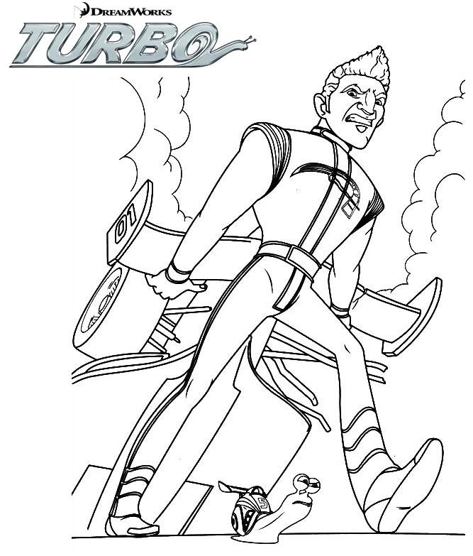 Coloriage a imprimer turbo l escargot conte guy la gagne - Coloriage turbo escargot ...