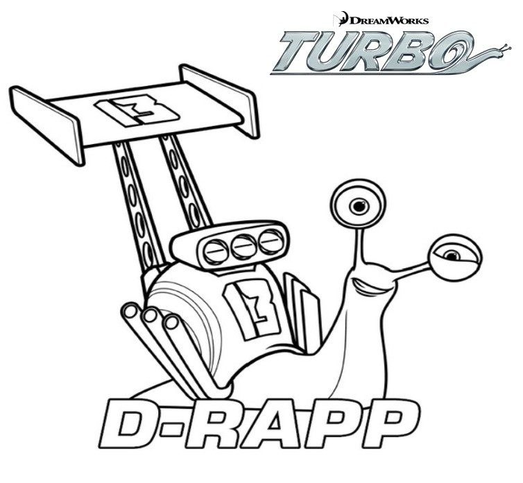 Coloriage a imprimer turbo l escargot d rapp gratuit et - Coloriage escargot turbo ...