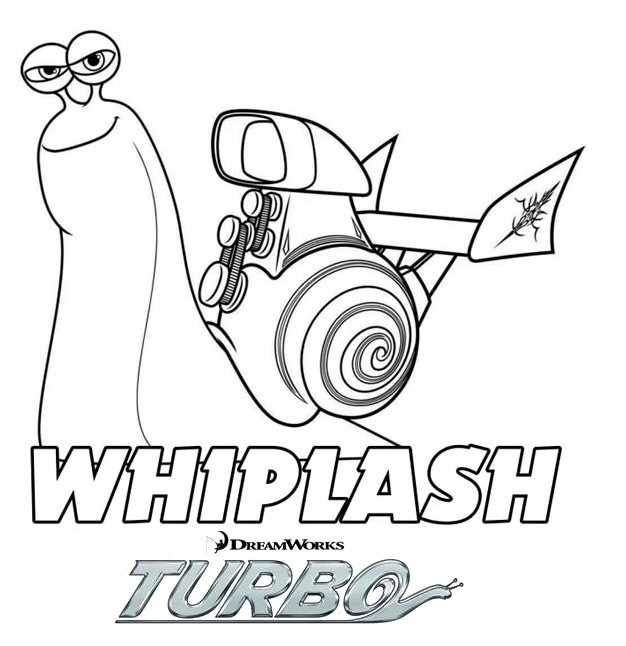Coloriage a imprimer turbo l escargot whiplash gratuit et - Coloriage escargot turbo ...