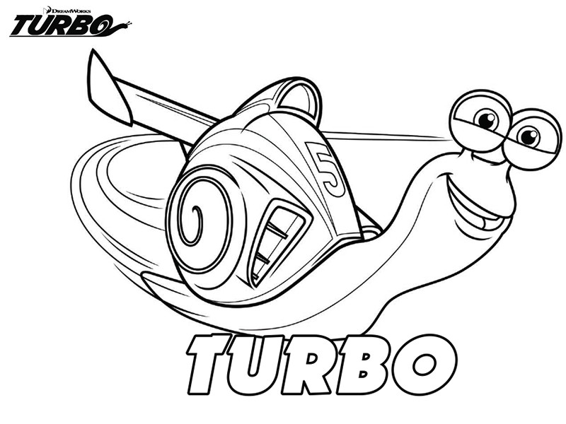 Coloriage a imprimer turbo l escargot gratuit et colorier - Coloriage escargot turbo ...