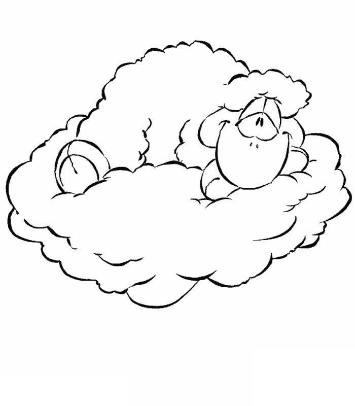 Coloriage a imprimer vanillivi sur son nuage gratuit et - Dessin de nuage a imprimer ...