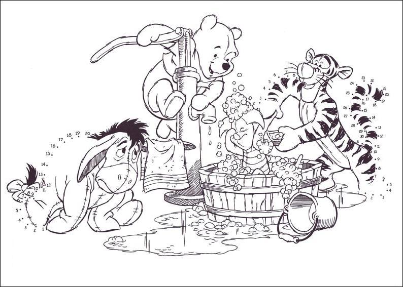 Coloriage point a point a imprimer winnie et ses amis - Winnie dessin ...
