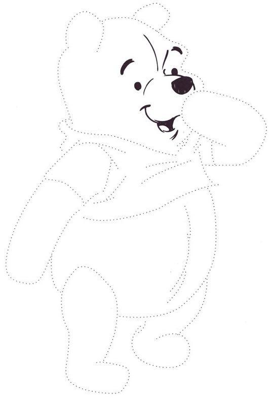 Coloriage point a point a imprimer winnie l ourson sourit - Jeux de winnie l ourson gratuit ...