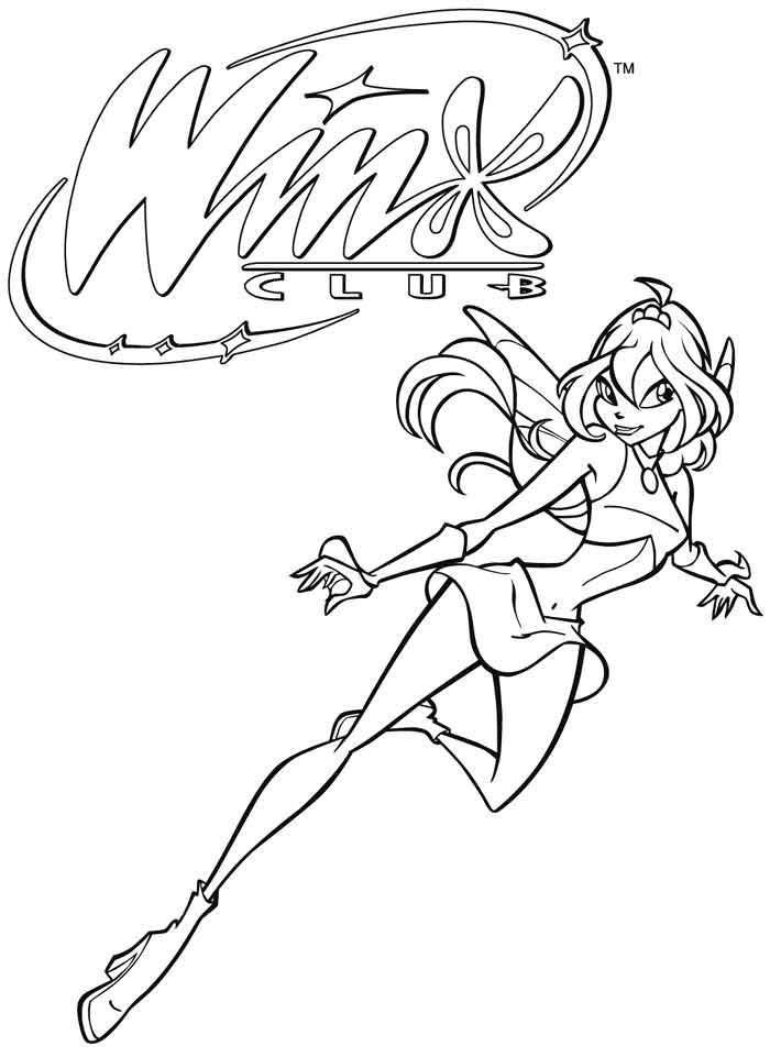 Coloriage a imprimer winx club bloom gratuit et colorier - Winx club dessin ...