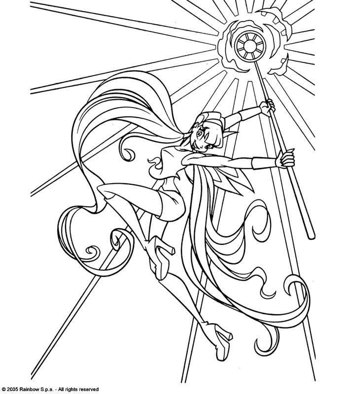 Coloriage A Imprimer Winx.Coloriage A Imprimer Winx Flora Et Son Septre Gratuit Et