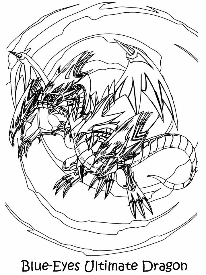 Coloriage a imprimer yugioh l ultime dragon aux yeux bleus - Dragon a imprimer ...