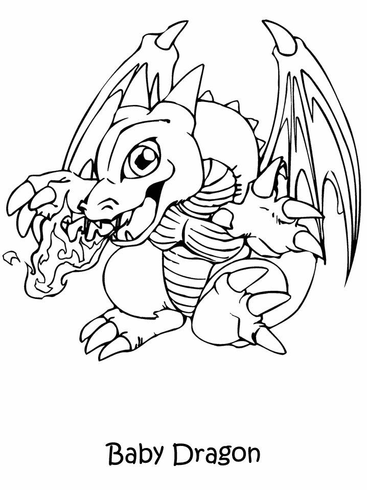 Coloriage a imprimer yugioh le bebe dragon gratuit et colorier - Dessin de bebe dragon ...
