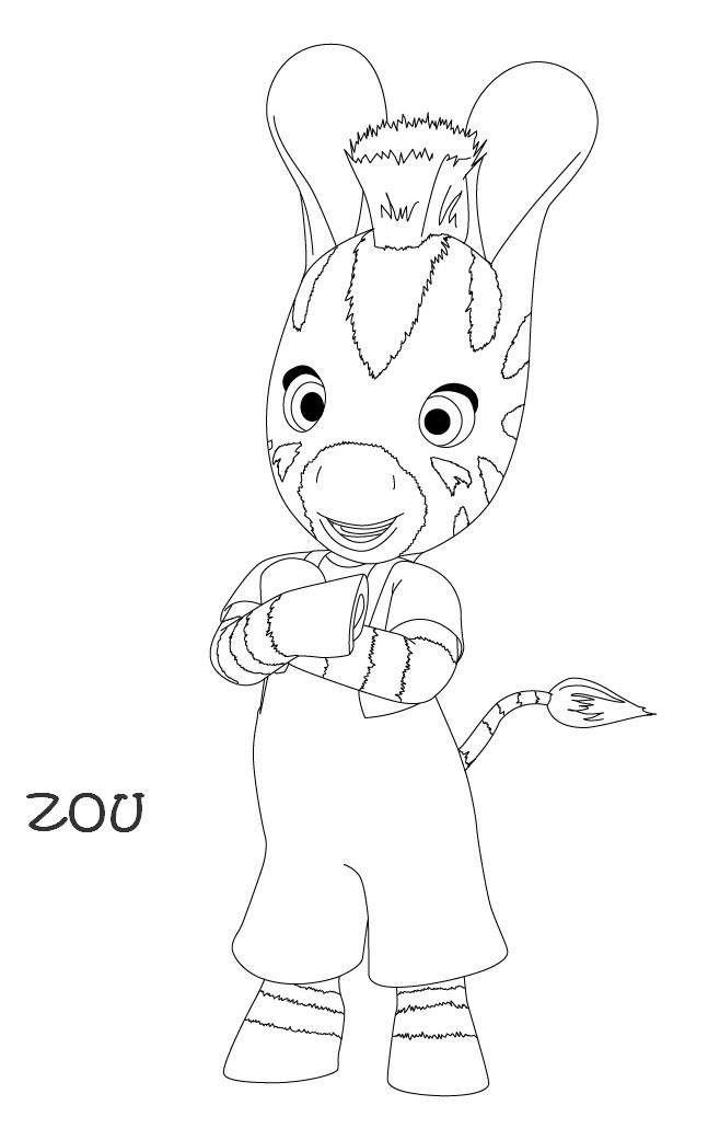 Coloriage a imprimer zou le petit zebre gratuit et colorier - Coloriage zebre a imprimer ...